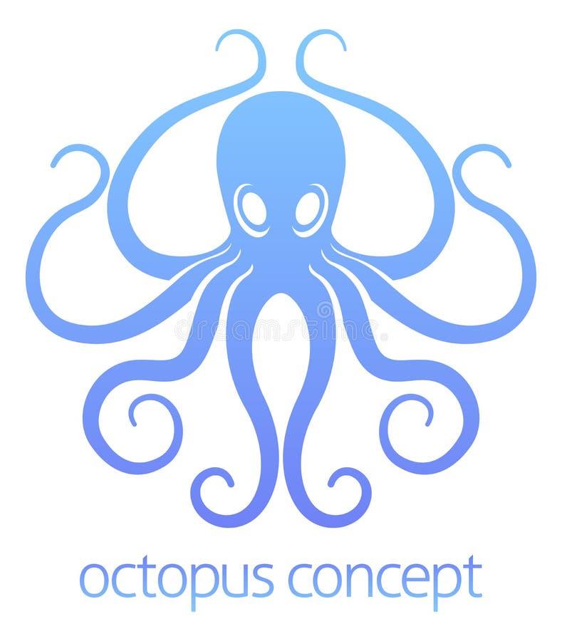 Octopusconceptontwerp royalty-vrije illustratie