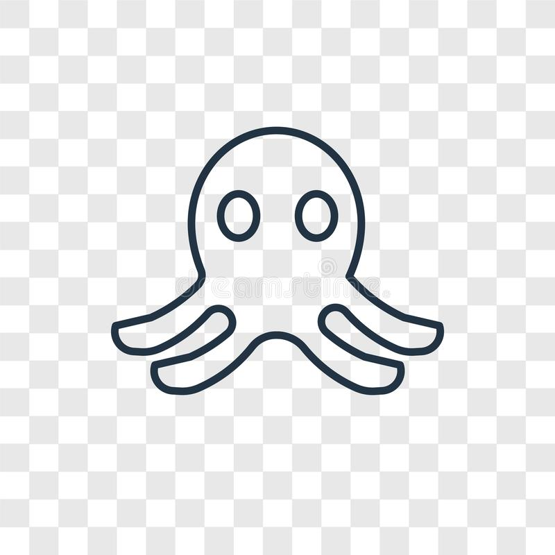Octopusstuk speelgoed concepten vector lineair die pictogram op transparante B wordt geïsoleerd vector illustratie
