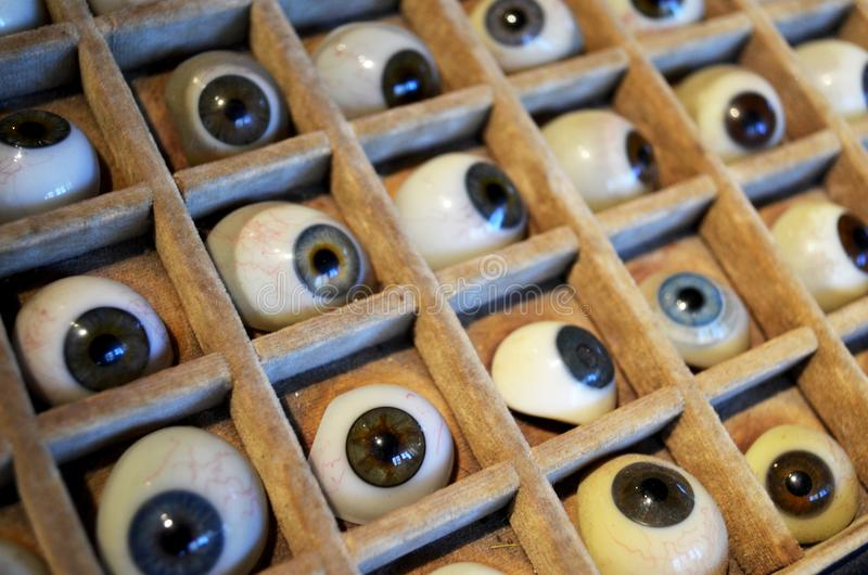 Glass eyeballs royalty free stock image