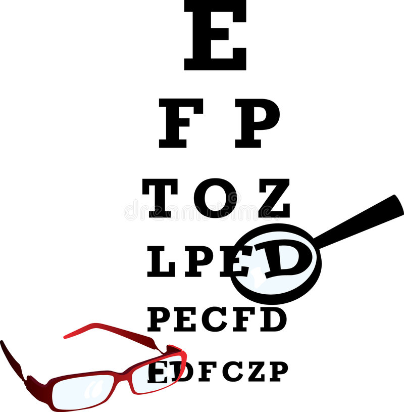 oculist алфавита иллюстрация вектора