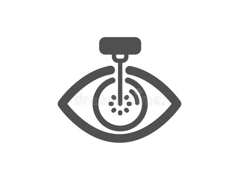 Eye laser surgery icon. Oculist clinic sign. Optometry vision. Vector. Oculist clinic sign. Eye laser surgery icon. Optometry vision symbol. Classic flat style stock illustration