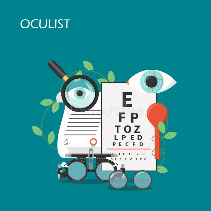 Free Oculist Concept Vector Flat Style Design Illustration Stock Photography - 142689742