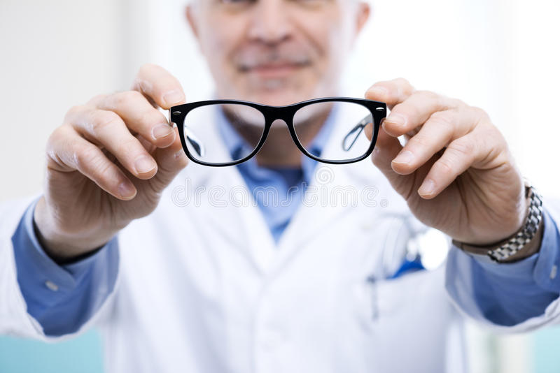 Oculist at work royalty free stock photography