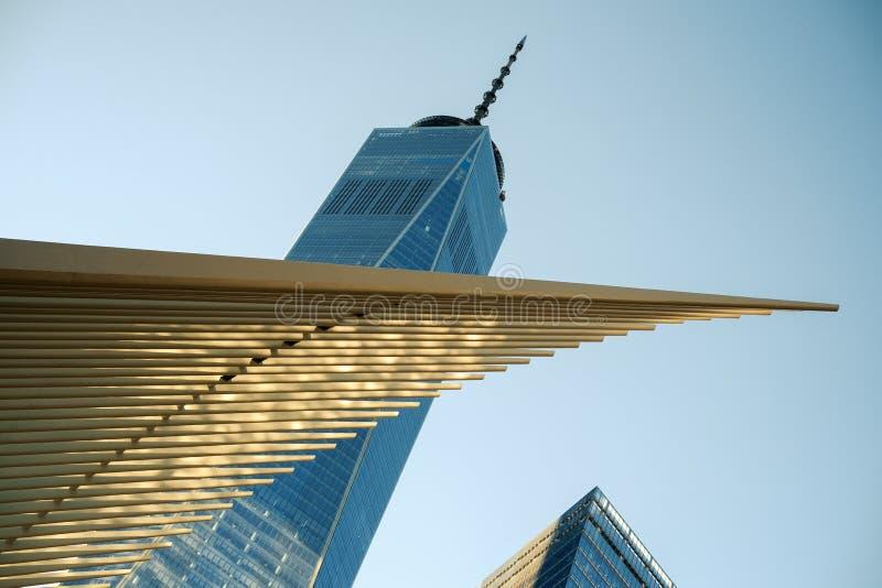 Oculus и WTC 1 стоковые фотографии rf