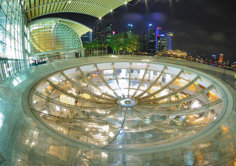 Oculus alle sabbie della baia del porticciolo, Singapore fotografia stock libera da diritti