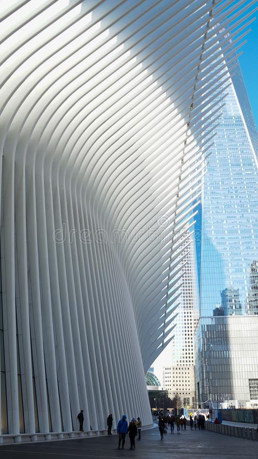 Oculus Building at the World Trade Center in New York, Manhattan. stock photo