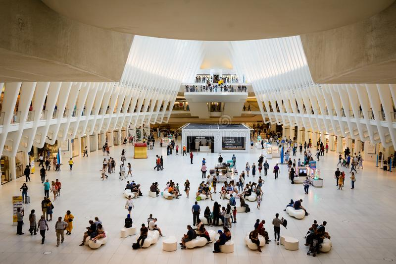 The Oculus - the hall, New York royalty free stock photography