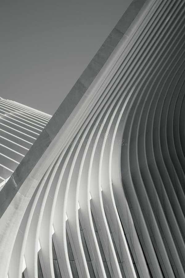 Oculus New York Wing Detail stock foto