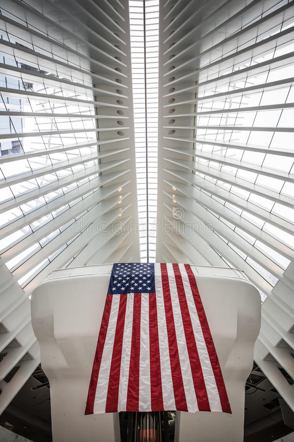 Oculus World Trade Center Transportation Hub in NYC stock image