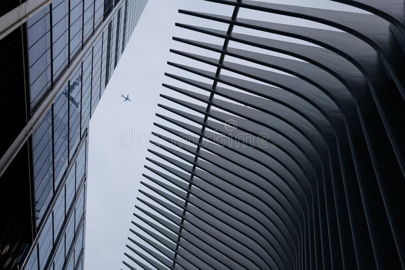 Oculus world trade center transportation hub and station royalty free stock photo
