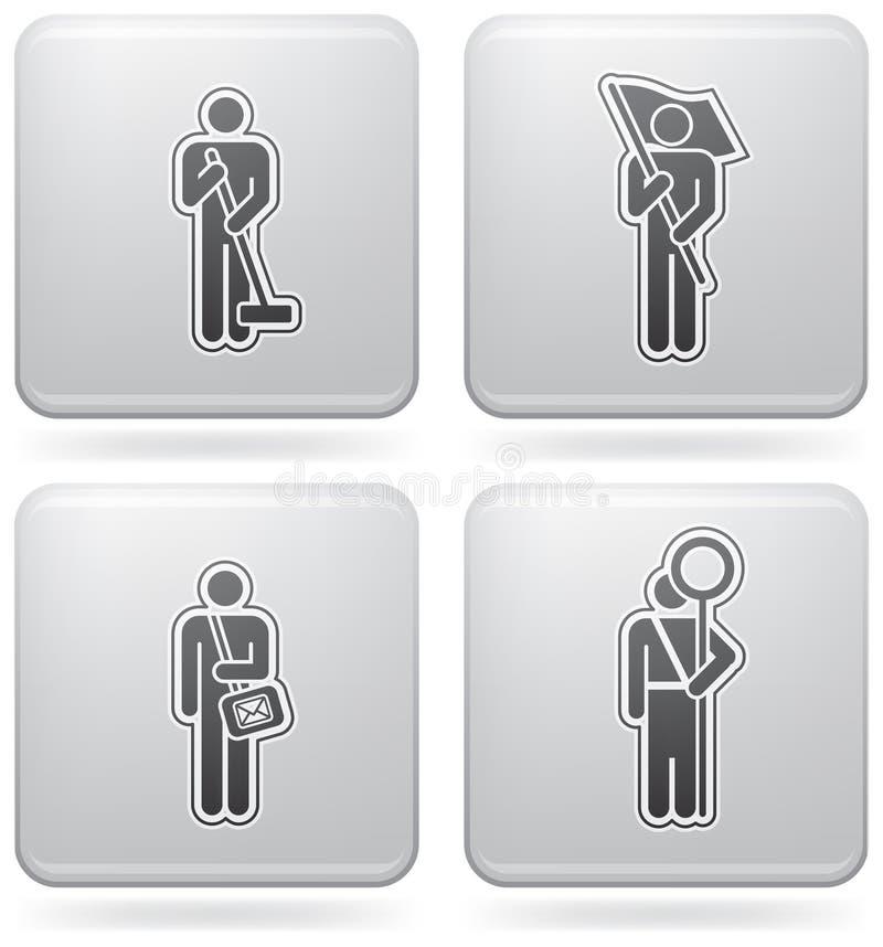 Ocupação do homem ilustração do vetor