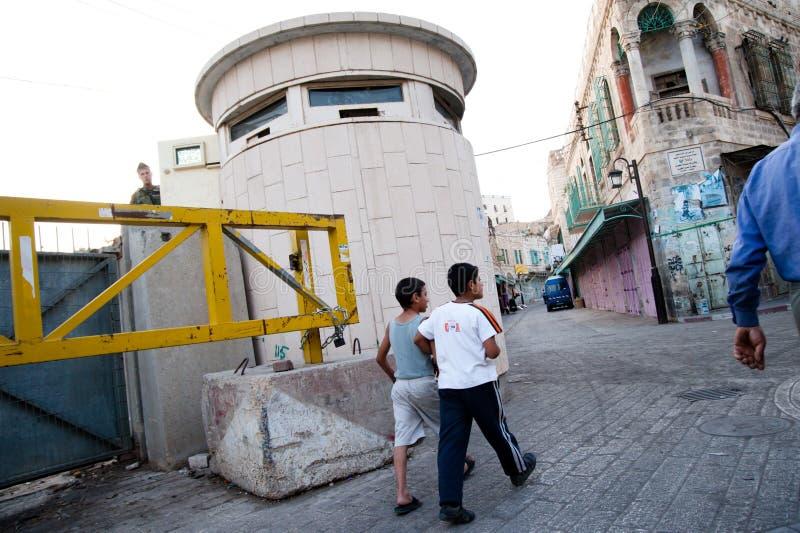 Ocupação israelita em Hebron imagens de stock royalty free