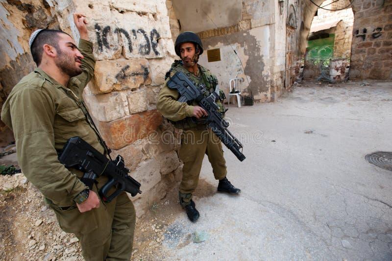 Ocupação israelita em Hebron fotos de stock