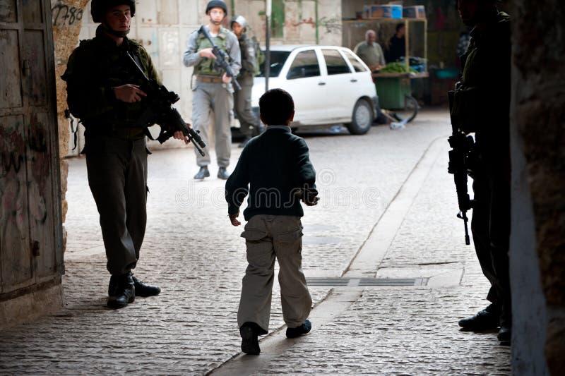 Ocupação israelita em Hebron foto de stock royalty free