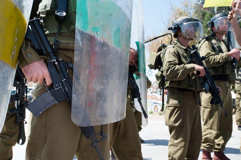 Ocupação israelita no Cisjordânia fotos de stock royalty free
