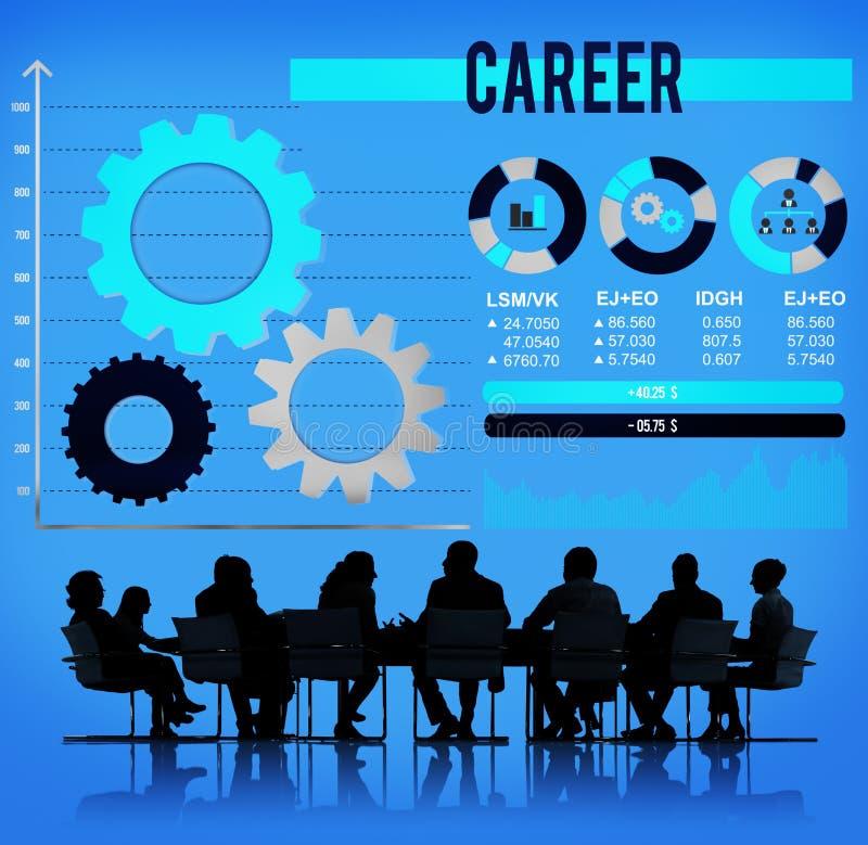 Ocupação Job Employment Hiring Concept da carreira ilustração do vetor
