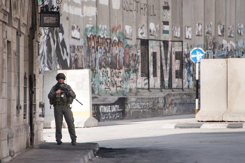 Ocupação militar israelita em Bethlehem fotos de stock royalty free