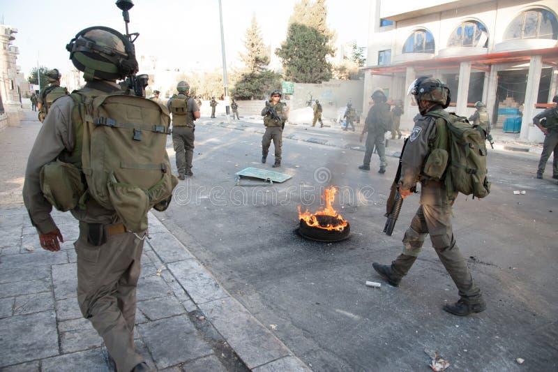 Ocupação militar israelita em Bethlehem imagens de stock royalty free