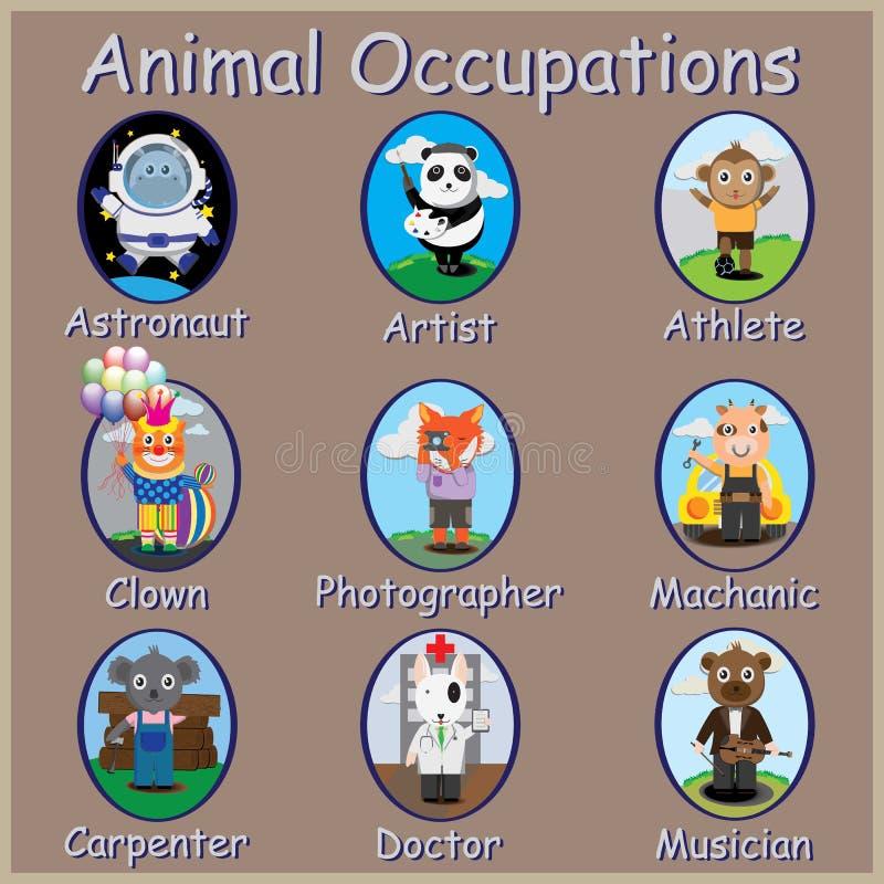 Ocupações dos animais, foto de stock royalty free