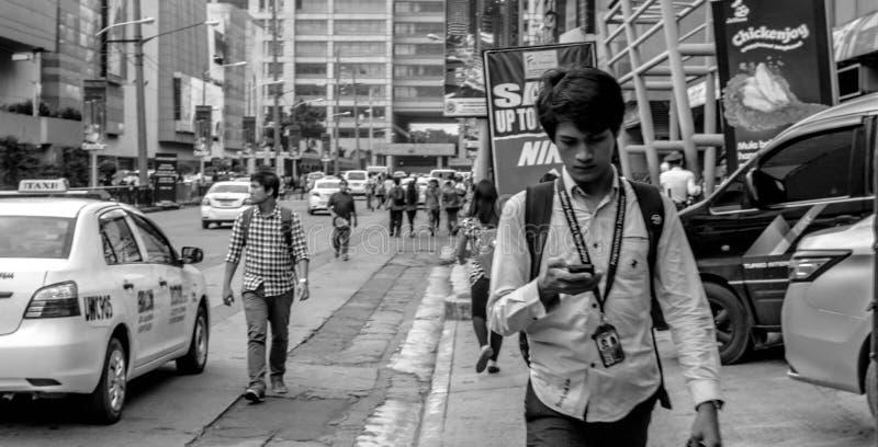 Ocupado conmute Filipinas fotos de archivo