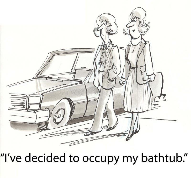 Ocupe a banheira ilustração stock