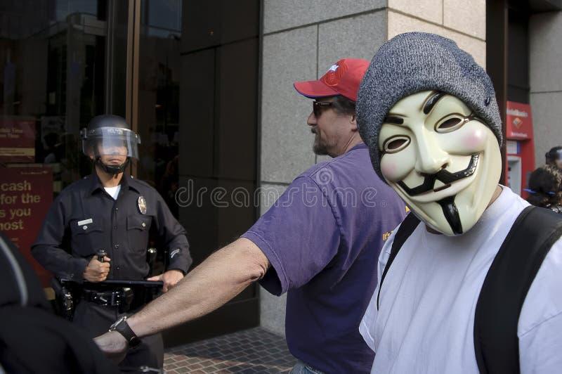 Ocupe la marcha de los manifestantes del LA imágenes de archivo libres de regalías