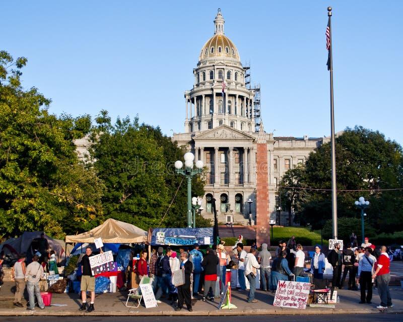 Ocupe la protesta de Denver - 14 imagen de archivo libre de regalías