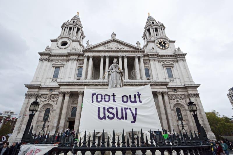 Ocupe las protestas de Londres fotos de archivo