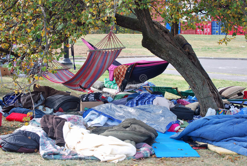 Ocupe o acampamento de Kansas City fotos de stock
