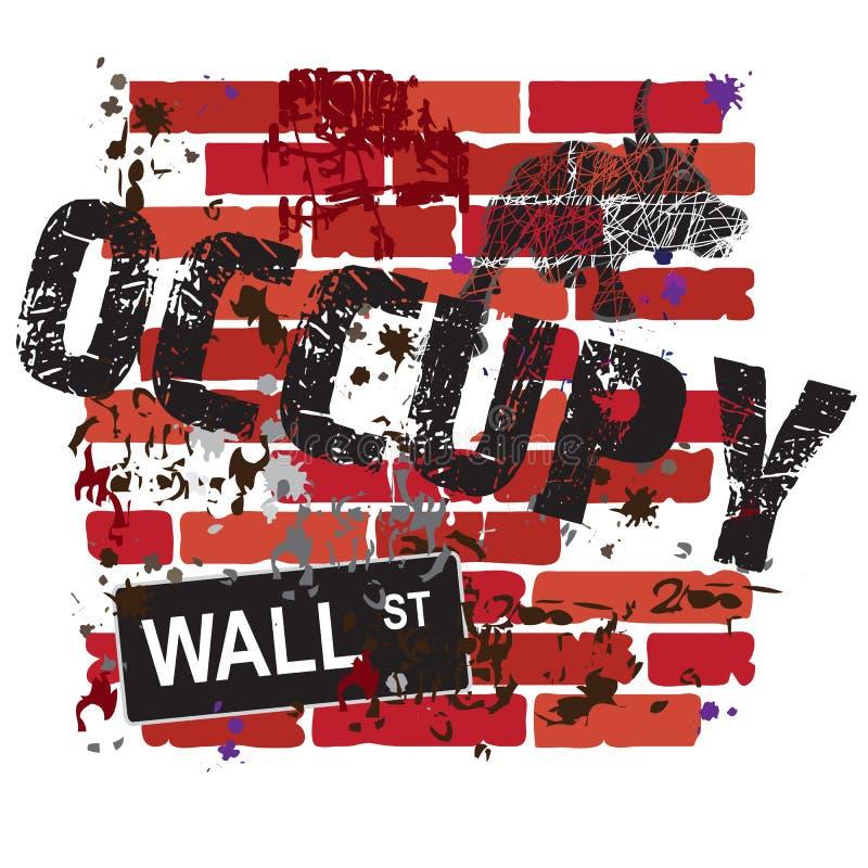 Ocupe o sinal de Wall Street ilustração stock