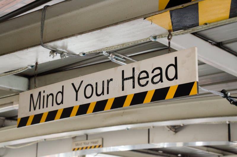 Ocupe-se de sua cabeça imagens de stock