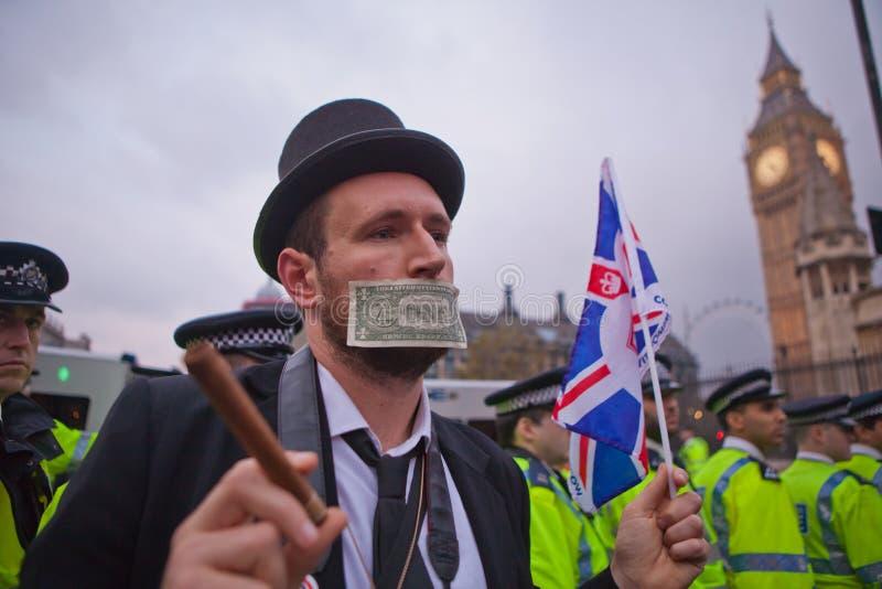 Ocupe a troca conservada em estoque março de Londres imagem de stock royalty free