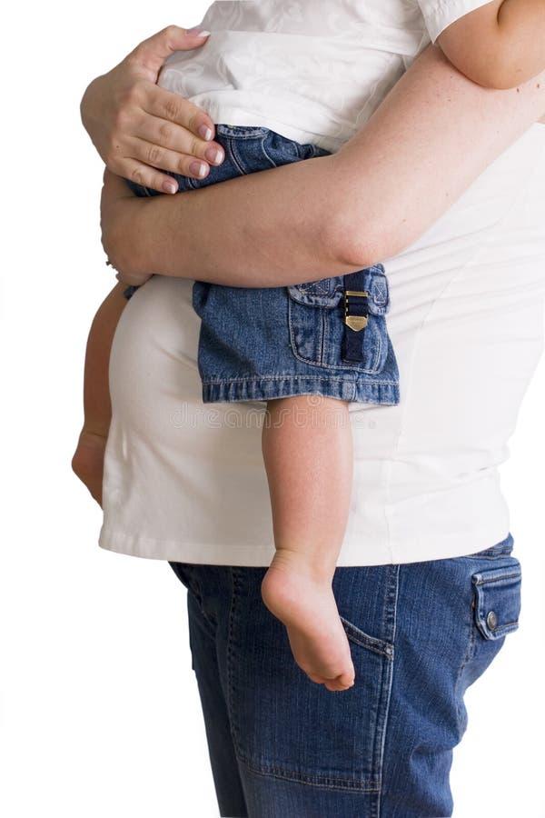oczekuje dziecka matce odizolowywającego white gospodarstwa