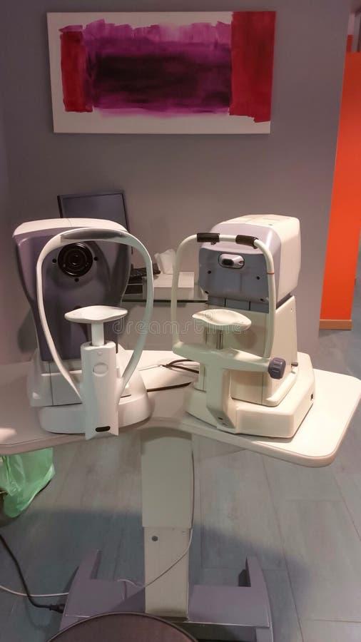 Oczny diagnostyczny wyposażenie obrazy stock
