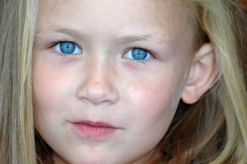 oczy błękitne dziecko s zdjęcia stock