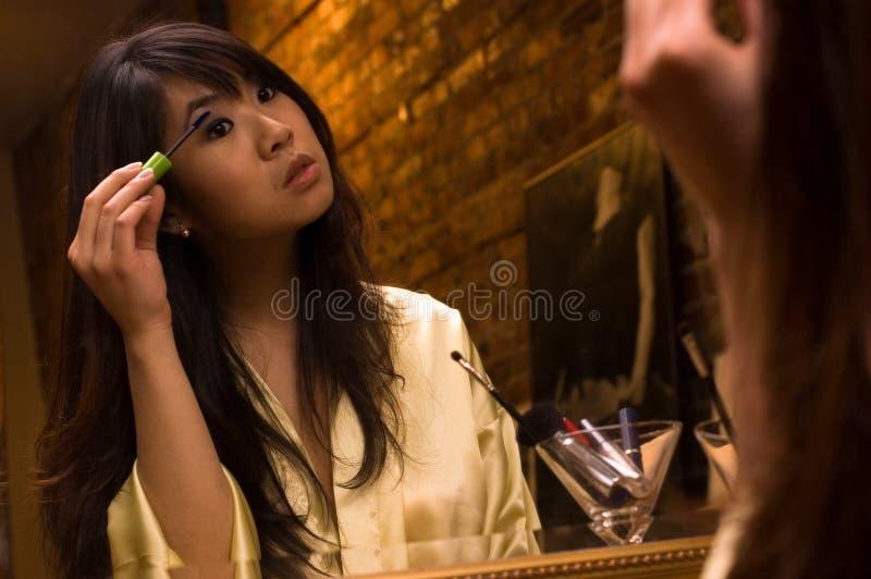 oczy dziewczyny makijaż fotografia stock