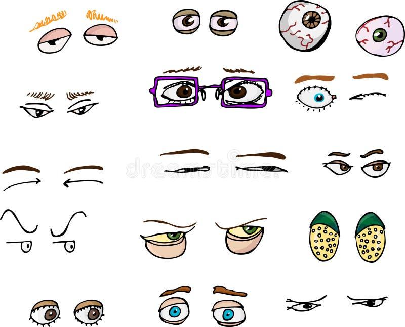 oczy ja ilustracji