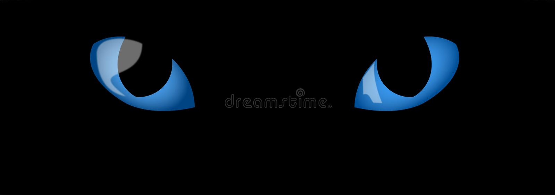 oczy niebieskie kotów ilustracji