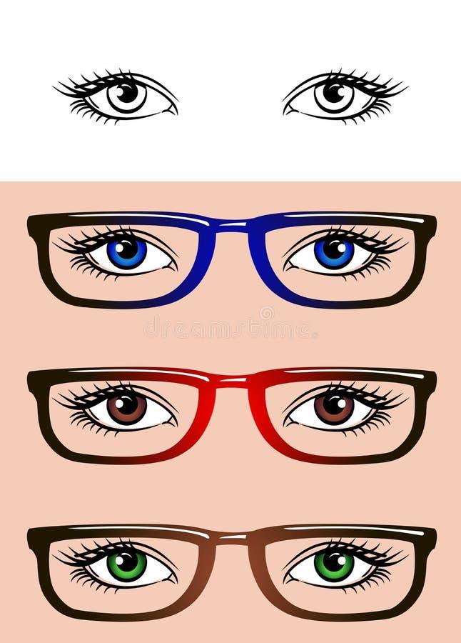 Oczy odizolowywający na białym tle royalty ilustracja