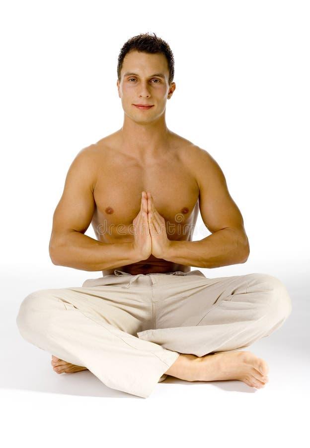 oczy otwarte, zdrowego trybu życia jogi zdjęcie royalty free