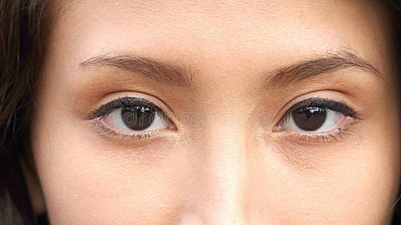 Oczy Peruwiańska dziewczyna zdjęcia stock