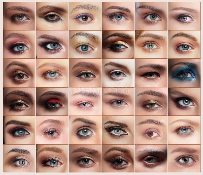 oczy ustawiający obrazy royalty free