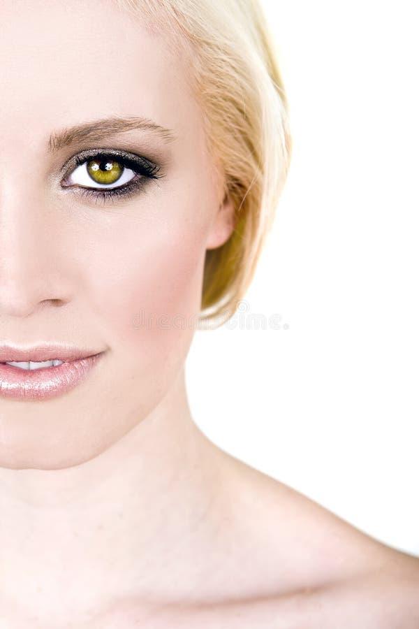 oczy zielenieją kobiety uderzającego wth fotografia stock