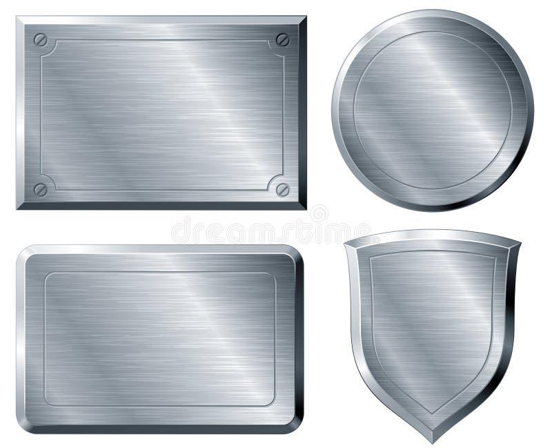 Oczyszczeni metali kształty ilustracji