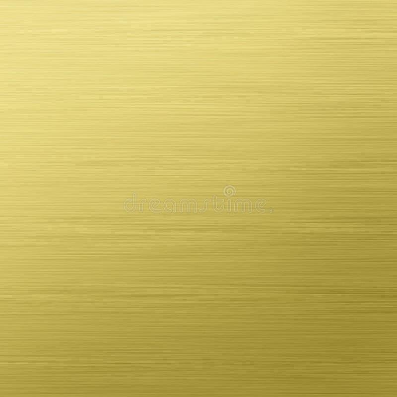 oczyszczonego złocistego metalu stalowa tekstura royalty ilustracja