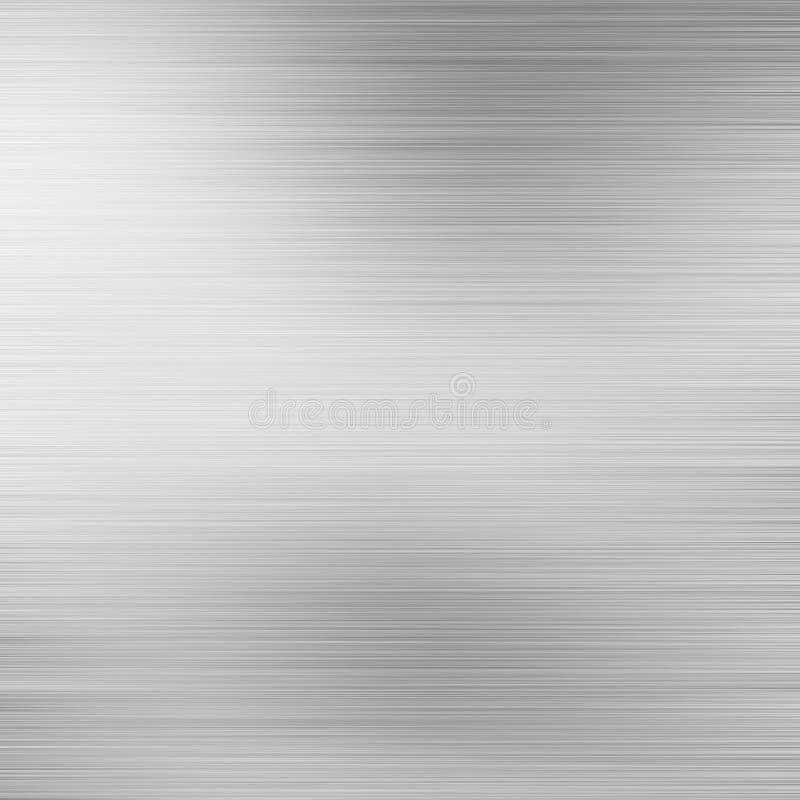 Oczyszczony aluminiowy metalu talerz ilustracja wektor