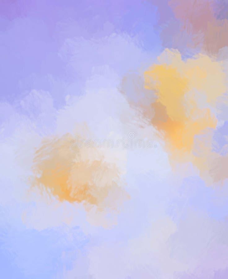 Oczyszczony malujący abstrakcjonistyczny tło Muśnięcie muskający obraz Uderzenia farba royalty ilustracja
