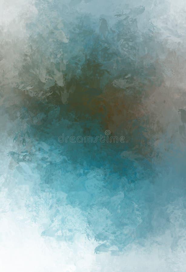 Oczyszczony malujący abstrakcjonistyczny tło Muśnięcie muskający obraz Uderzenia farba ilustracja abstrakcyjna royalty ilustracja