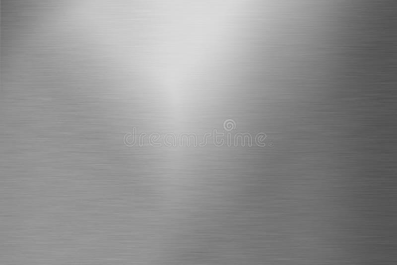 Oczyszczony metalu talerz ilustracja wektor