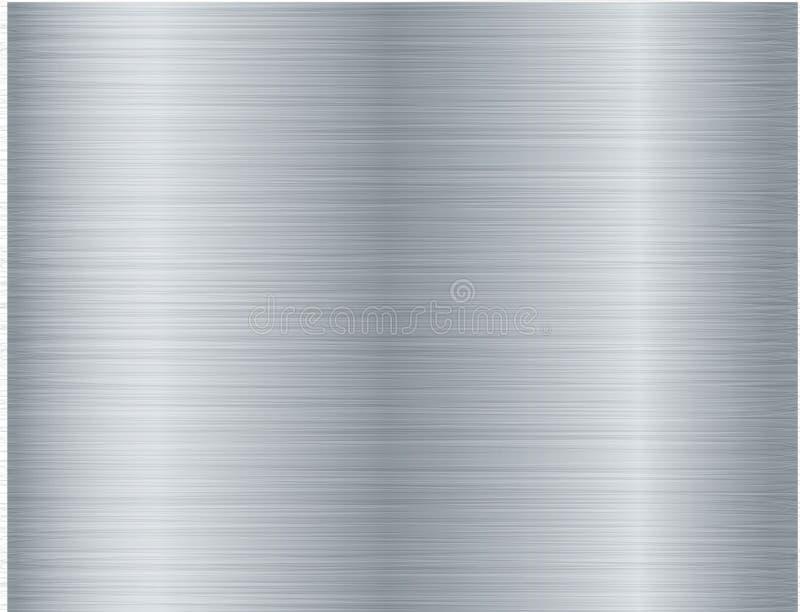 Oczyszczony metalu tekstury abstrakta tło ilustracji
